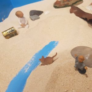 Photo of sand play scene